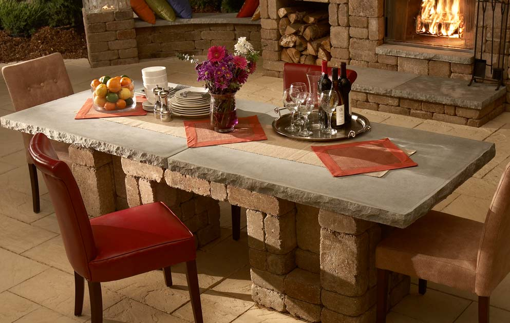 Dining Table Antiquity Stone Amp Patio Omaha Ne